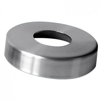 Cache-platine ø 76mm  pour tube ø 12 mm hauteur 12mm - inox 316 brossé