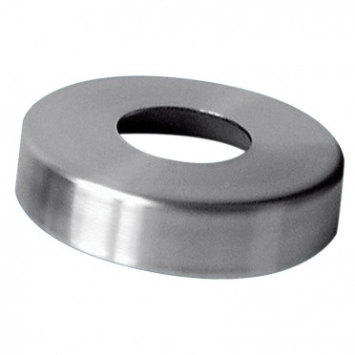 Cache-platine ø 145mm  pour tube ø48,3mm hauteur 25mm inox 316 brossé