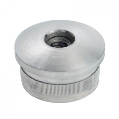 Bouchon fileté bombé pour tube rond inox 42,4 mm inox 304 brossé