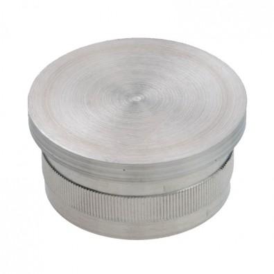 Bouchon vraiment  pas cher plat diam 33,7 mm en inox 304 brossé