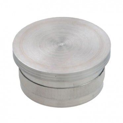 Bouchon vraiment  pas cher plat diam 42,4 mm en inox 304 brossé