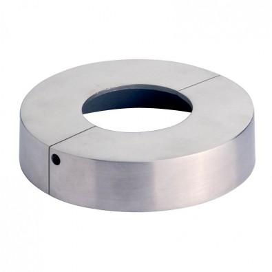 Cache platine en 2 parties ø125 mm pour tube ø 48,3 mm inox 316 brossé