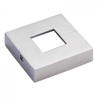 Cache platine carré en 2 parties pour tube 30 x 30 mm inox 316 brossé