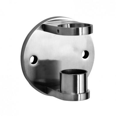 Platine de fixation ronde latérale mixte pour poteau ø 48,3mm inox 316