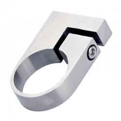 Collier de fixation de tube rond diamètre 33,7 mm en inox 316 brossé