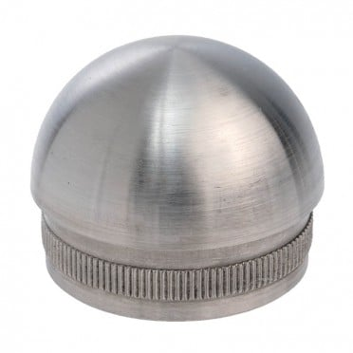 Bouchon 1/2 sphère pour tube rond inox diam 42,4 mm en inox 304 brossé
