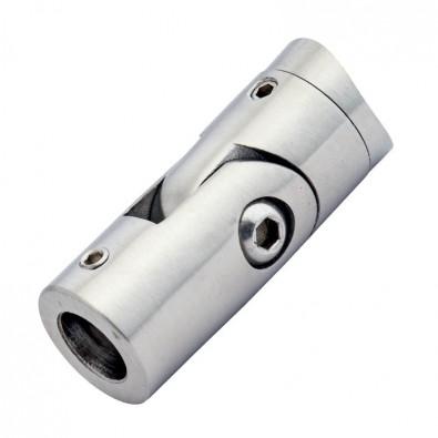 Support de barre ø 12 mm orientable pour tube 42,4 mm inox 316 brossé