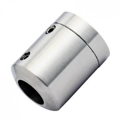 Support de lisse ø 16 mm en 2 parties sur support plat inox 316 brossé