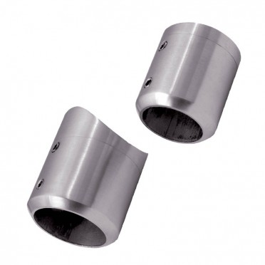 Support de barre ø33,7mm en 2 parties sur tube ø48,3mm inox 316 brossé
