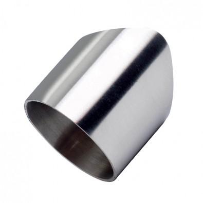 Raccord de barre ø 33,7 mm sur tube ø 42,4 mm en inox 304 brossé
