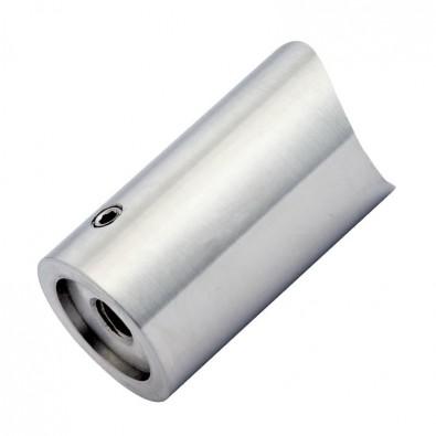 Entretoise 44 mm pour tube 33,7 mm et support plat en inox 316 brossé