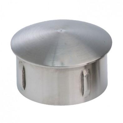 Bouchon bombé pour tube rond inox de diam 60,3 mm en inox 304 brossé