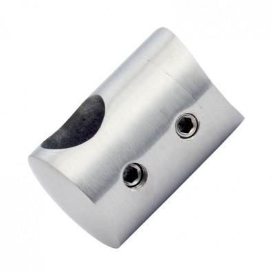 Support de lisse ø10 mm transversal pour tube ø33,7 mm inox 304 brossé