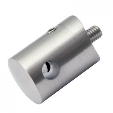 Support pour câble 5 mm en inox pour poteau 42,4 mm