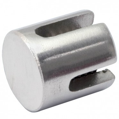 Arrêt butoir 90° en inox 316 pour câble 5 mm