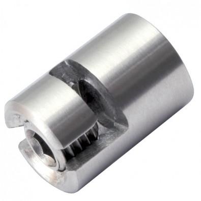 Arrêt butoir 180° en inox 316 pour câble 5 mm avec taraudage M8