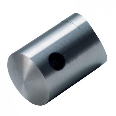 Support pour câble 5 mm en inox brossé pour poteau 42,4 mm