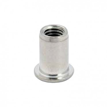 Rivet fileté en inox 304, filetage M6, 14 mm, pour tube inox