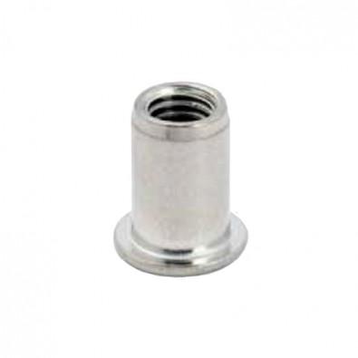 Rivet fileté en inox 304, filetage M6, 14 mm, pour tube inox