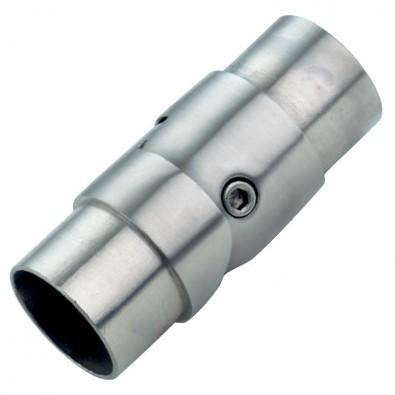 Raccord orientable de 0 à 90 degrés en inox 304 brossé diam 42,4 mm