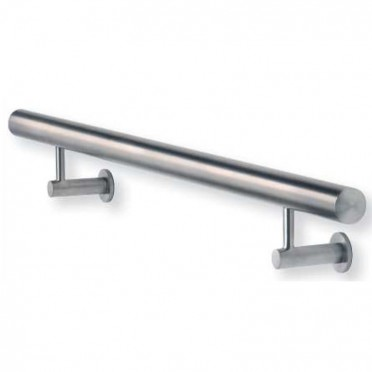Main courante inox design 2500 mm à fixations invisibles, embouts plats