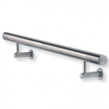 Main courante inox design 6000 mm à fixations invisibles, embouts plats