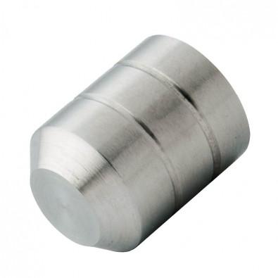 Terminaison droite de lisse de garde corps 12mm, inox 304 brossé