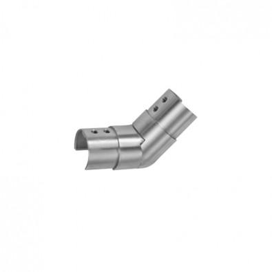 Coude orientable extérieur de tube à gorge ø 42,4 mm inox 316 brossé