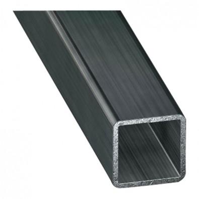 Tube carré 25 x 25 mm épaisseur 2 mm en acier brut