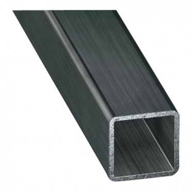 Tube carré 30 x 30 mm épaisseur 2 mm en acier brut