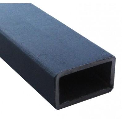Tube rectangulaire 40 x 20 mm épaisseur 2 mm en acier brut