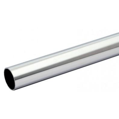 Tube rond diamètre 33,7 mm épaisseur 2 mm en inox 304 brossé grain 220