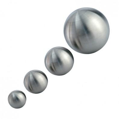 Boule d'ornement creuse en inox 304 brossé ø 80x2,0 mm, insert M8