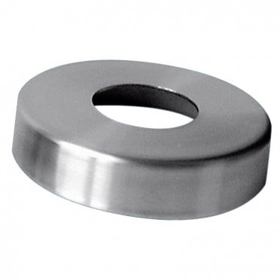 Cache-platine ø 105mm pour tube ø 48,3mm hauteur 16mm inox 304 brossé