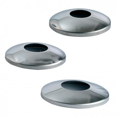 Cache-platine bombé pour tube ø 42,4mm diamètre 125mm inox 304 brossé