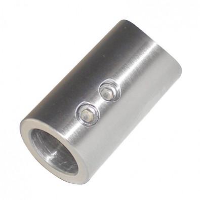 Support de lisse ø 12 mm axial pour tube rond ø26,9 mm inox 304 brossé