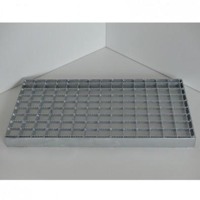 Caillebotis sur mesure cranté en acier galvanisé maille 30/30 et porteurs 30/2 mm