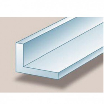Cornière aluminium brut inégale 40 x 20 x 2 mm