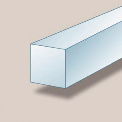 Profilé aluminium carré plein 30 x 30 mm brut