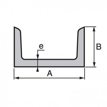 U cong s angles arrondis 30 x 15 x 4 mm - Profile acier u ...