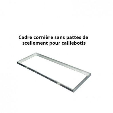 Cadre acier galva sur mesure pour caillebotis en cornière section 35 x 35 x 3 mm