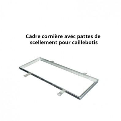Cadre acier galva avec pattes de scellement sur mesure pour caillebotis en cornière section 35 x 35 x 3 mm