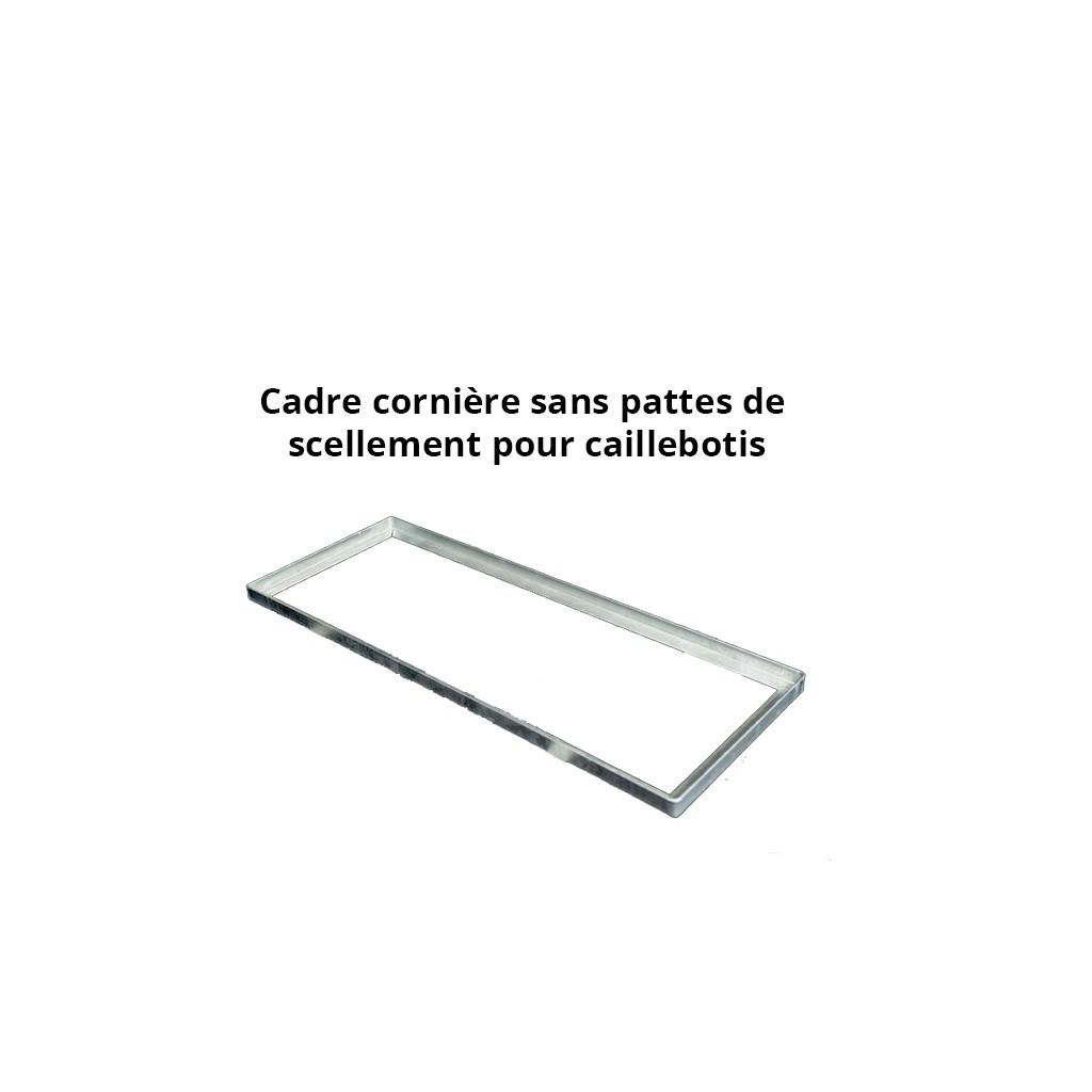 cadre acier galva pour caillebotis en corni re de 45. Black Bedroom Furniture Sets. Home Design Ideas