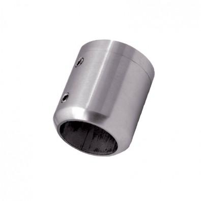 Support de barre ø42,4mm en 2 parties sur support plat inox 316 brossé
