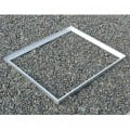 Cadre acier galva avec pattes de scellement sur mesure pour caillebotis en cornière section 35 x 35 x 3 mm 0