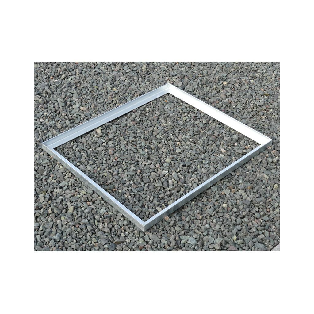 cadre acier galva sceller pour caillebotis en corni re de 33 30 3 mm. Black Bedroom Furniture Sets. Home Design Ideas