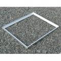 Cadre acier galva avec pattes de scellement sur mesure pour caillebotis en cornière section 45 x 45 x 4.5 mm 0