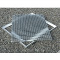 Cadre acier galva avec pattes de scellement sur mesure pour caillebotis en cornière section 35 x 35 x 3 mm 3