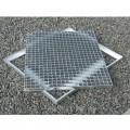 Cadre acier galva avec pattes de scellement sur mesure pour caillebotis en cornière section 45 x 45 x 4.5 mm 3