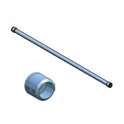 Barre d'appui de fenêtre ronde en inox brossé diamètre 42,4 mm